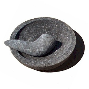 Stone Mortar Amp Pestle Ulekan Amp Cobek Size 5 Quot Natural