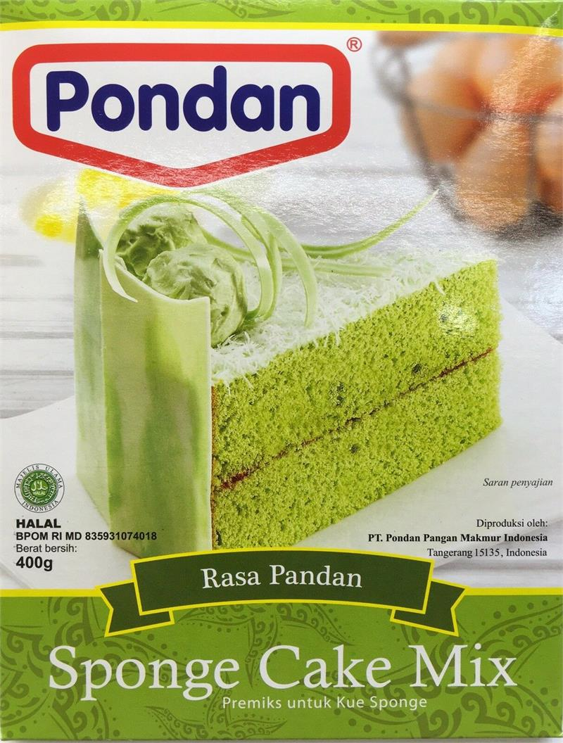 Pandan Sponge Cake Mix 14oz Pondan